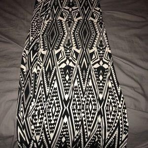 Black and white maxi shirt